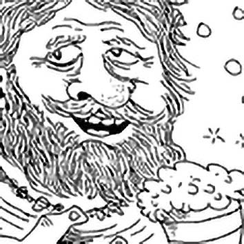 Picture of the Norse Sea God Aegir from our Norse mythology image library. Illustration by Chas Saunders.