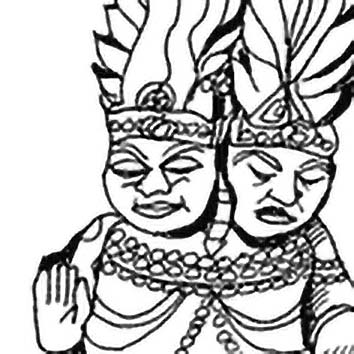 Picture of the Hindu Fire God Agni from our Hindu mythology image library. Illustration by Chas Saunders.