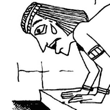 Picture of the Egyptian Underworld Goddess Ament from our Egyptian mythology image library. Illustration by Chas Saunders.
