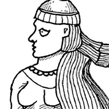 Picture of the Zoroastrian Femininity Goddess Anahita from our Zoroastrian mythology image library. Illustration by Chas Saunders.