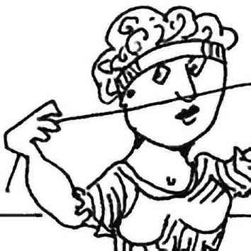 Picture of the Greek Destiny Goddess Atropos from our Greek mythology image library. Illustration by Chas Saunders.
