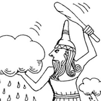 Picture of the Canaanite War God Baal from our Canaanite mythology image library. Illustration by Chas Saunders.