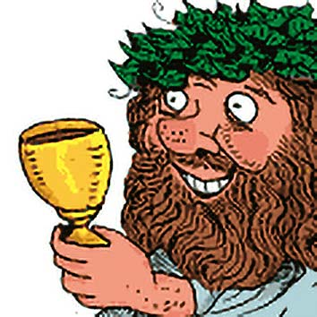 Picture of the Roman Drunken God Bacchus from our Roman mythology image library. Illustration by Chas Saunders.