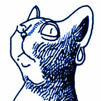 Picture of the Egyptian Cat Goddess Bastet from our Egyptian mythology image library. Illustration by Chas Saunders.