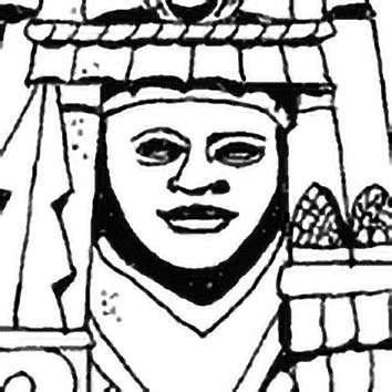 Picture of the Aztec Corn/Maize Goddess Chalchiuhcihuatl from our Aztec mythology image library. Illustration by Chas Saunders.