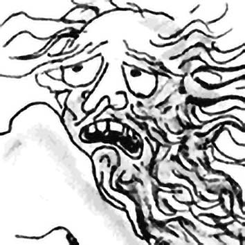 Picture of the Greek Psychopomp God Charon from our Greek mythology image library. Illustration by Chas Saunders.