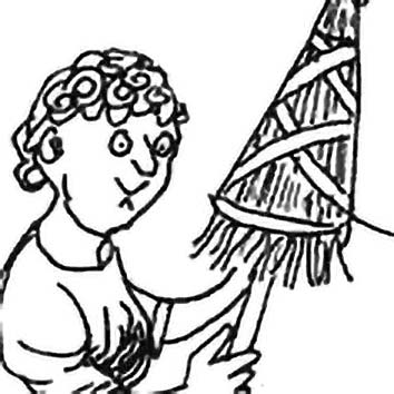 Picture of the Greek Destiny Goddess Clotho from our Greek mythology image library. Illustration by Chas Saunders.