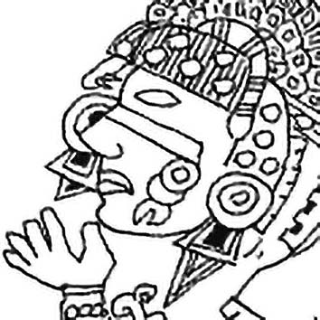 Picture of the Aztec Moon Goddess Coyolxauhqui from our Aztec mythology image library. Illustration by Chas Saunders.