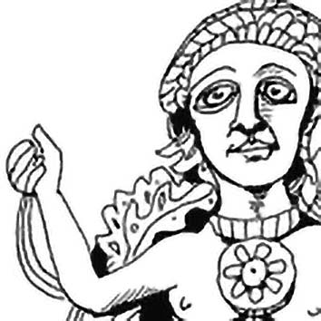 Picture of the Greek Tree Spirits Daphnaie from our Greek mythology image library. Illustration by Chas Saunders.