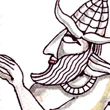 Picture of the Canaanite Creator God El from our Canaanite mythology image library. Illustration by Chas Saunders.