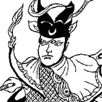 Picture of the Chinese Hero God Erlang Shen from our Chinese mythology image library. Illustration by Chas Saunders.