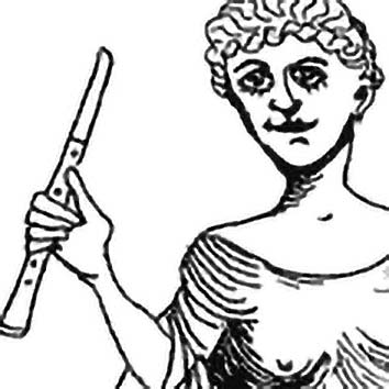 Picture of the Greek Music Goddess Euterpe from our Greek mythology image library. Illustration by Chas Saunders.