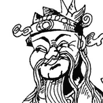 Picture of the Chinese Good Luck God Fuxing from our Chinese mythology image library. Illustration by Chas Saunders.