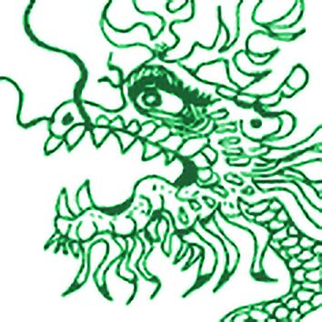 Picture of the Chinese Spring God Gou Mang from our Chinese mythology image library. Illustration by Chas Saunders.
