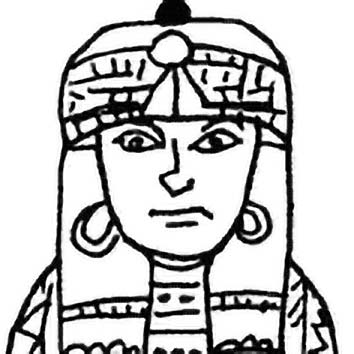 Picture of the Egyptian Lung God Hapy (2) from our Egyptian mythology image library. Illustration by Chas Saunders.