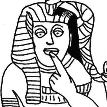 Picture of the Egyptian Protection God Har-pa-khered from our Egyptian mythology image library. Illustration by Chas Saunders.