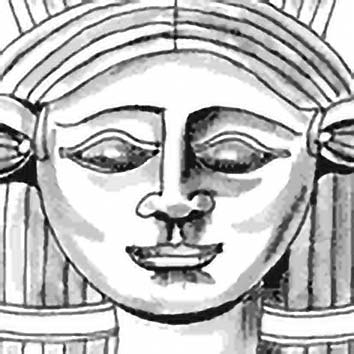 Picture of the Egyptian Love Goddess Hathor from our Egyptian mythology image library. Illustration by Chas Saunders.