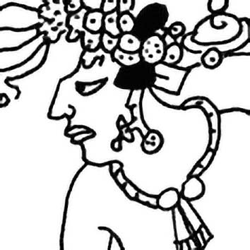 Picture of the Maya Creator God Hun-Ixim from our Maya mythology image library. Illustration by Chas Saunders.