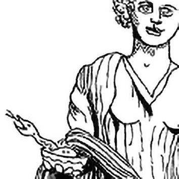 Picture of the Greek Good Health Goddess Hygeia from our Greek mythology image library. Illustration by Chas Saunders.