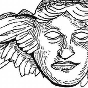 Picture of the Greek Sleep God Hypnos from our Greek mythology image library. Illustration by Chas Saunders.