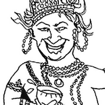Picture of the Hindu Supreme God Indra from our Hindu mythology image library. Illustration by Chas Saunders.