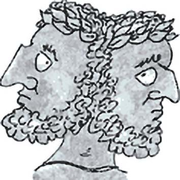 Picture of the Roman Crossroads God Janus from our Roman mythology image library. Illustration by Chas Saunders.