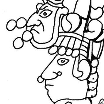 Picture of the Maya Royalty God Jester God from our Maya mythology image library. Illustration by Chas Saunders.