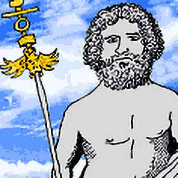 Picture of the Roman Ruler God Jupiter from our Roman mythology image library. Illustration by Chas Saunders.