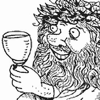 Picture of the Roman Wine God Liber from our Roman mythology image library. Illustration by Chas Saunders.