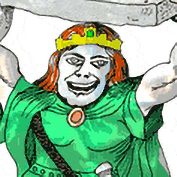 Picture of the Irish Craft God Lugh from our Irish mythology image library. Illustration by Chas Saunders.