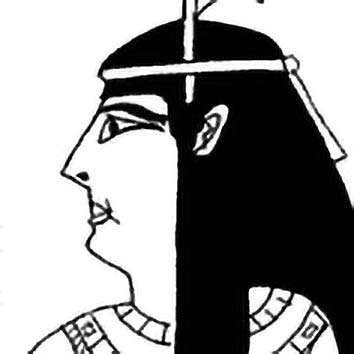 Picture of the Egyptian Justice Goddess Maat from our Egyptian mythology image library. Illustration by Chas Saunders.