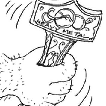Picture of the Norse information Mjollnir from our Norse mythology image library. Illustration by Chas Saunders.