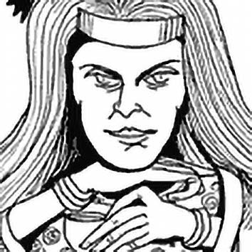 Picture of the Irish War Goddess Mórrígan from our Irish mythology image library. Illustration by Chas Saunders.