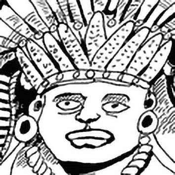 Picture of the Zapotec Corn/Maize God Ndubdo from our Zapotec mythology image library. Illustration by Chas Saunders.