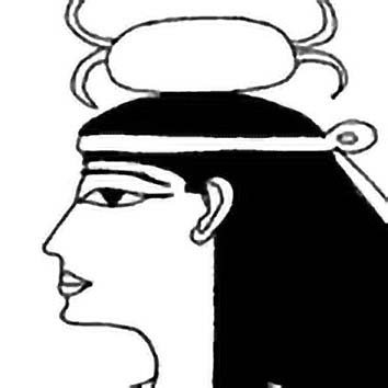 Picture of the Egyptian Destiny Goddess Neith from our Egyptian mythology image library. Illustration by Chas Saunders.