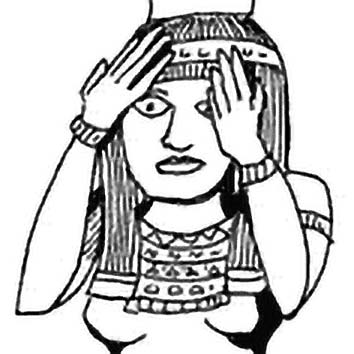 Picture of the Egyptian Funerary Goddess Nephthys from our Egyptian mythology image library. Illustration by Chas Saunders.