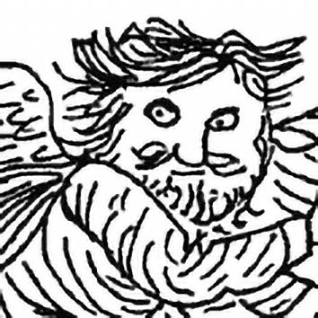Picture of the Greek South Wind God Notus from our Greek mythology image library. Illustration by Chas Saunders.