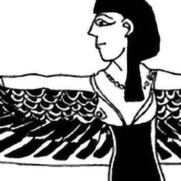Picture of the Egyptian Creator Goddess Nut from our Egyptian mythology image library. Illustration by Chas Saunders.