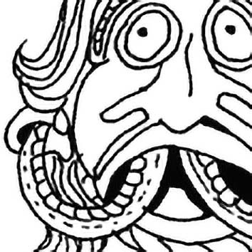 Picture of the Irish Communication God Ogma from our Irish mythology image library. Illustration by Chas Saunders.