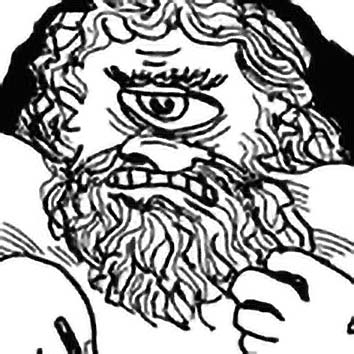 Picture of the Greek fabulous creature Polyphemus from our Greek mythology image library. Illustration by Chas Saunders.