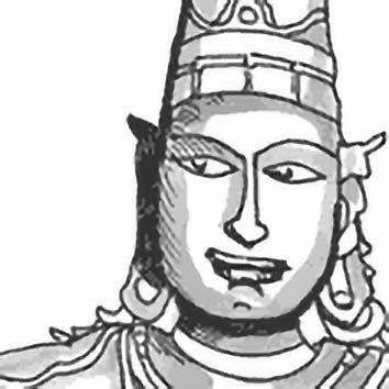 Picture of the Hindu Hero God Rama from our Hindu mythology image library. Illustration by Chas Saunders.