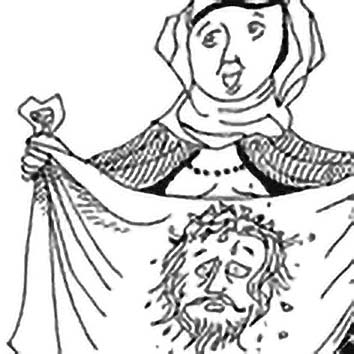 Picture of the Christian Saint Veronica from our Christian mythology image library. Illustration by Chas Saunders.