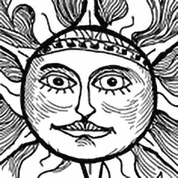 Picture of the Lithuanian Sun Goddess Saule from our Lithuanian mythology image library. Illustration by Chas Saunders.