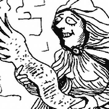 Picture of the Roman legendary mortal Sibyl of Cumae (2) from our Roman mythology image library. Illustration by Chas Saunders.