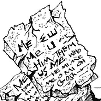 Picture of the Mesopotamian information Tablet of Destinies from our Mesopotamian mythology image library. Illustration by Chas Saunders.