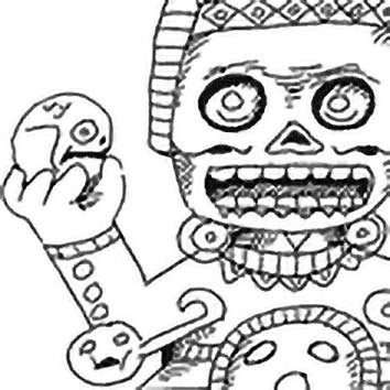 Picture of the Aztec Demoness Tlaltecuhtli from our Aztec mythology image library. Illustration by Chas Saunders.