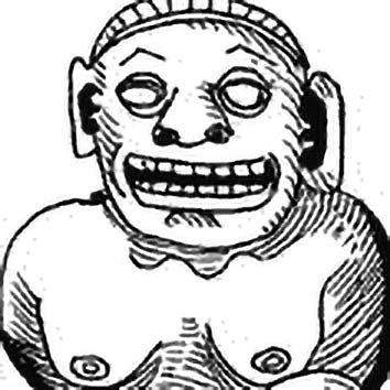 Picture of the Aztec Purity Goddess Tlazolteotl from our Aztec mythology image library. Illustration by Chas Saunders.