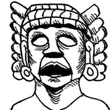 Picture of the Aztec Creator Goddess Toci from our Aztec mythology image library. Illustration by Chas Saunders.