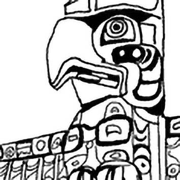 Picture of the Native American information Totem Poles from our Native American mythology image library. Illustration by Chas Saunders.