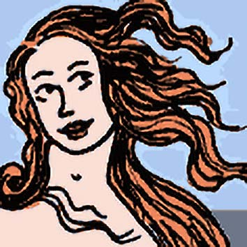 Picture of the Roman Love Goddess Venus from our Roman mythology image library. Illustration by Chas Saunders.
